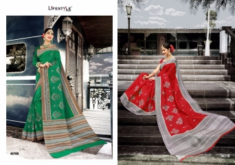 LIFESTYLE PATOLA SILK COTTON PRINT SILK SAREES WHOLESALE BEST RATE DEALER BY GOSIYA EXPORT SURAT (8)