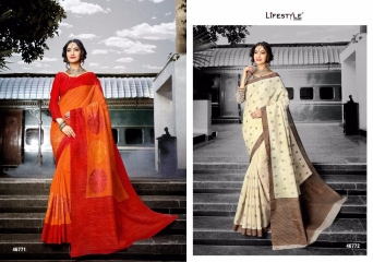 LIFESTYLE PATOLA SILK COTTON PRINT SILK SAREES WHOLESALE BEST RATE DEALER BY GOSIYA EXPORT SURAT (9)
