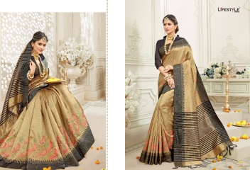 LIFESTYLE RUKMANI CATALOG SILK SAREES FESTIVE WEAR SAREES COLLECTION (1)