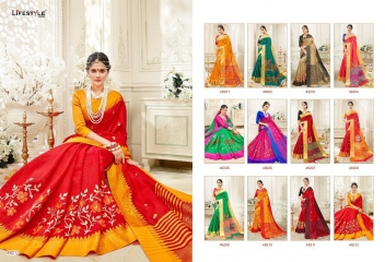 LIFESTYLE RUKMANI CATALOG SILK SAREES FESTIVE WEAR SAREES COLLECTION (2)