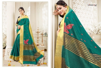 LIFESTYLE RUKMANI CATALOG SILK SAREES FESTIVE WEAR SAREES COLLECTION (4)