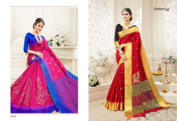 LIFESTYLE RUKMANI CATALOG SILK SAREES FESTIVE WEAR SAREES COLLECTION (5)