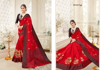 LIFESTYLE RUKMANI CATALOG SILK SAREES FESTIVE WEAR SAREES COLLECTION (7)