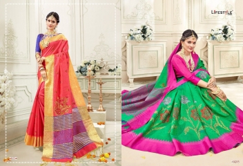 LIFESTYLE RUKMANI CATALOG SILK SAREES FESTIVE WEAR SAREES COLLECTION (8)