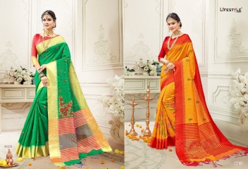 LIFESTYLE RUKMANI CATALOG SILK SAREES FESTIVE WEAR SAREES COLLECTION (9)
