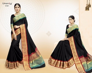 LIFESTYLE VATIKA COTTON WEAVING SAREES PARTY WEAR COLLECTION WHOLESALE DEALER BEST RATE BY GOSIYA EXPORTS SURAT (1)
