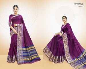LIFESTYLE VATIKA COTTON WEAVING SAREES PARTY WEAR COLLECTION WHOLESALE DEALER BEST RATE BY GOSIYA EXPORTS SURAT (10)