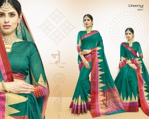 LIFESTYLE VATIKA COTTON WEAVING SAREES PARTY WEAR COLLECTION WHOLESALE DEALER BEST RATE BY GOSIYA EXPORTS SURAT (11)