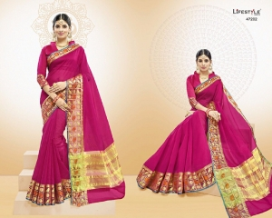 LIFESTYLE VATIKA COTTON WEAVING SAREES PARTY WEAR COLLECTION WHOLESALE DEALER BEST RATE BY GOSIYA EXPORTS SURAT (2)