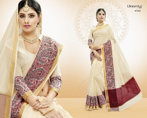 LIFESTYLE VATIKA COTTON WEAVING SAREES PARTY WEAR COLLECTION WHOLESALE DEALER BEST RATE BY GOSIYA EXPORTS SURAT (3)