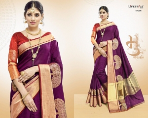 LIFESTYLE VATIKA COTTON WEAVING SAREES PARTY WEAR COLLECTION WHOLESALE DEALER BEST RATE BY GOSIYA EXPORTS SURAT (6)