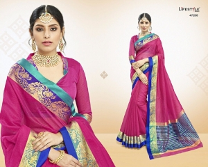 LIFESTYLE VATIKA COTTON WEAVING SAREES PARTY WEAR COLLECTION WHOLESALE DEALER BEST RATE BY GOSIYA EXPORTS SURAT (8)