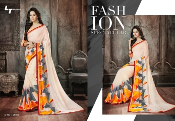 Lt blush chiffon Sarees collection Wholesale BEST RATE BY GOSIYA EXPORTS (2)