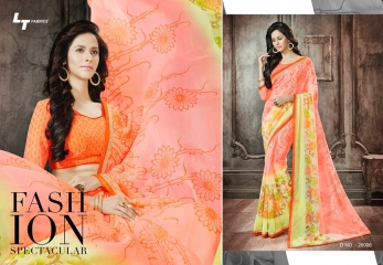 Lt blush chiffon Sarees collection Wholesale BEST RATE BY GOSIYA EXPORTS (7)