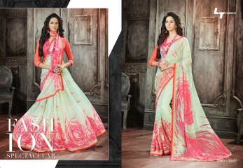 Lt blush chiffon Sarees collection Wholesale BEST RATE BY GOSIYA EXPORTS (8)