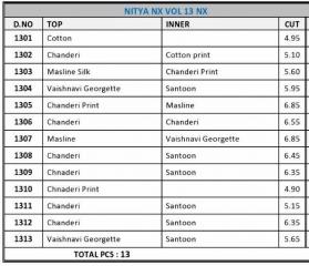 LT FABRICS NITYA FASHION VOL 13 NX DESIGNER KURTI COLLECTION WHOLESALE BY GOSIYA EXPORTS SURAT (14)