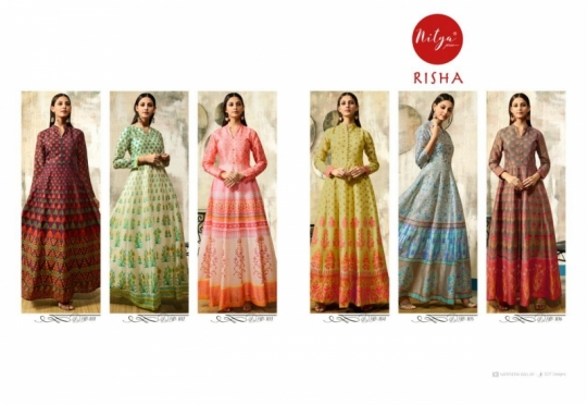 LT NITYA RISHA 101-106 SERIES LONG PARTY WEAR SILK GOWN COLLECTION WHOLESALE BEST RATE BY GOSIYA EXPORTS SURAT (1)