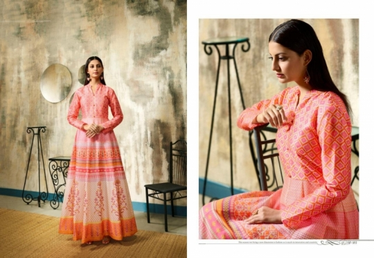 LT NITYA RISHA 101-106 SERIES LONG PARTY WEAR SILK GOWN COLLECTION WHOLESALE BEST RATE BY GOSIYA EXPORTS SURAT (5)