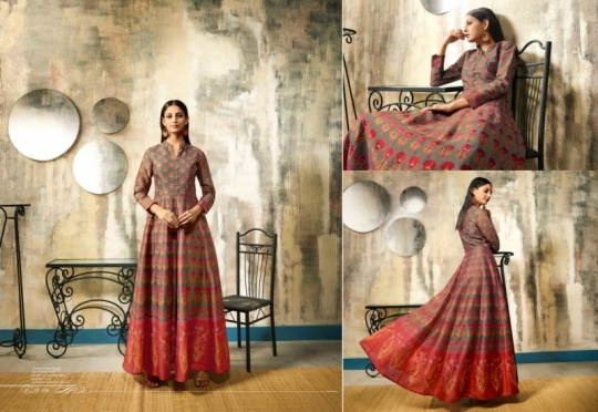 LT NITYA RISHA 101-106 SERIES LONG PARTY WEAR SILK GOWN COLLECTION WHOLESALE BEST RATE BY GOSIYA EXPORTS SURAT (6)