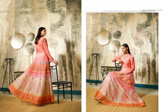 LT NITYA RISHA 101-106 SERIES LONG PARTY WEAR SILK GOWN COLLECTION WHOLESALE BEST RATE BY GOSIYA EXPORTS SURAT (9)