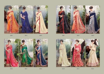 M N SAREES HEAVY BRIDAL 3800 SERIES WHOLESALE SURAT BEST RATE BY M N SAREES (13)