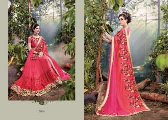 M N SAREES HEAVY BRIDAL 3800 SERIES WHOLESALE SURAT BEST RATE BY M N SAREES (4)