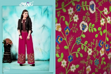 MAG PALLAZO VOL 1 COTTON RAYON EMBROIDERED PLAZZO IN WHOLESALE FROM SURAT BEST ARET BY GOSIYA EXPORTS (10)