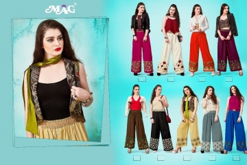 MAG PALLAZO VOL 1 COTTON RAYON EMBROIDERED PLAZZO IN WHOLESALE FROM SURAT BEST ARET BY GOSIYA EXPORTS (2)