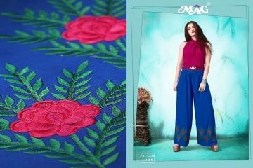 MAG PALLAZO VOL 1 COTTON RAYON EMBROIDERED PLAZZO IN WHOLESALE FROM SURAT BEST ARET BY GOSIYA EXPORTS (4)
