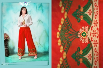 MAG PALLAZO VOL 1 COTTON RAYON EMBROIDERED PLAZZO IN WHOLESALE FROM SURAT BEST ARET BY GOSIYA EXPORTS (7)