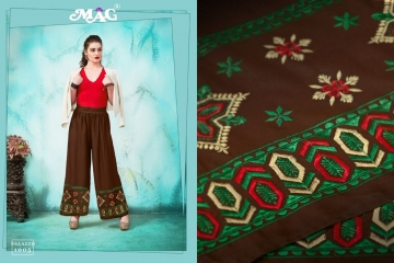 MAG PALLAZO VOL 1 COTTON RAYON EMBROIDERED PLAZZO IN WHOLESALE FROM SURAT BEST ARET BY GOSIYA EXPORTS (8)