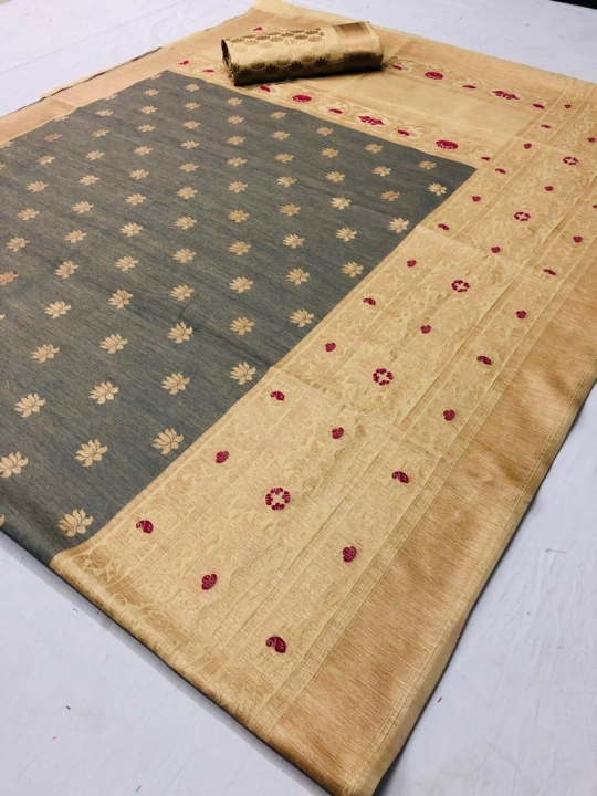 Mahakanta Silk Pure Jamdani Silk with Minakari Weaving SAREE  (10)