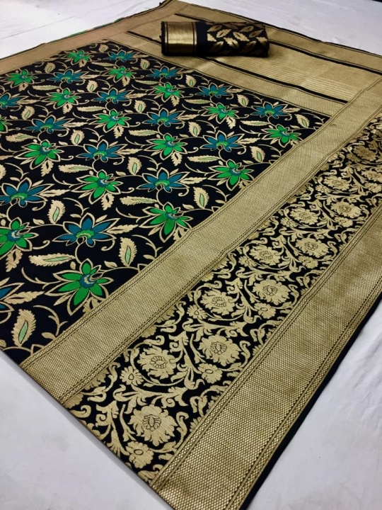 Mahakanta Silk Pure Jamdani Silk with Minakari Weaving SAREE  (3)