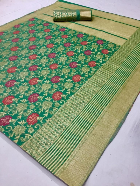 Mahakanta Silk Pure Jamdani Silk with Minakari Weaving SAREE  (7)