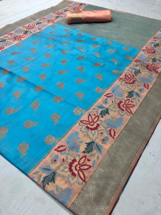 Mahakanta Silk Pure Jamdani Silk with Minakari Weaving SAREE  (8)