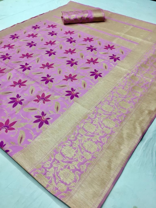 Mahakanta Silk Pure Jamdani Silk with Minakari Weaving SAREE  (9)