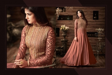 MAISHA MASKEEN D NO 4806 GEORGETTE EMBROIDERED PARTY WEAR SALWAR SUITS COLORS (1)