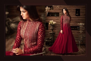 MAISHA MASKEEN D NO 4806 GEORGETTE EMBROIDERED PARTY WEAR SALWAR SUITS COLORS (2)