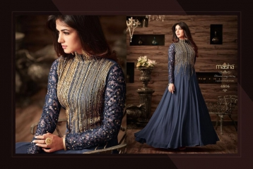 MAISHA MASKEEN D NO 4806 GEORGETTE EMBROIDERED PARTY WEAR SALWAR SUITS COLORS (3)