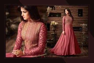 MAISHA MASKEEN D NO 4806 GEORGETTE EMBROIDERED PARTY WEAR SALWAR SUITS COLORS (4)