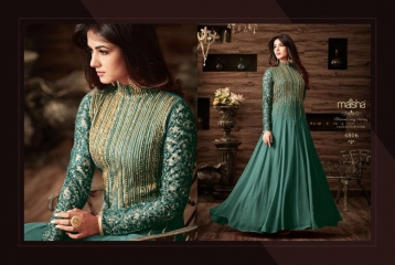MAISHA MASKEEN D NO 4806 GEORGETTE EMBROIDERED PARTY WEAR SALWAR SUITS COLORS (5)