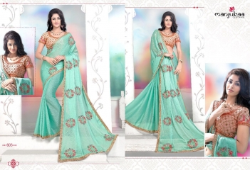 MANJUBAA CLOTHING LOTUS VOL 6 FANCY SAREE WITH DESIGNER BLOUSE CATALOG BUY SAREE ONLINE WHOLESALE BEST RATE (3)