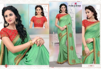 MANJUBAA CLOTHING LOTUS VOL 6 FANCY SAREE WITH DESIGNER BLOUSE CATALOG BUY SAREE ONLINE WHOLESALE BEST RATE (5)