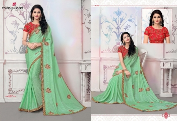 MANJUBAA CLOTHING LOTUS VOL 6 FANCY SAREE WITH DESIGNER BLOUSE CATALOG BUY SAREE ONLINE WHOLESALE BEST RATE (7)