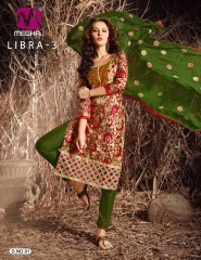 MEGHALI SUIT LIBRA VOL 3 FANCY DRESS MATERIAL CATALOG WHOLESALE SUPPLIER BEST ARET BY GOSIYA EXPORTS (10)