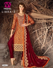 MEGHALI SUIT LIBRA VOL 3 FANCY DRESS MATERIAL CATALOG WHOLESALE SUPPLIER BEST ARET BY GOSIYA EXPORTS (12)