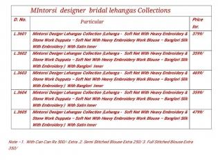 MINTORSI DESIGNER BRIDAL LEHENGA COLLECTION WHOLESALE BEST RATE BY GOSIYA EXPORTS SURAT (8)