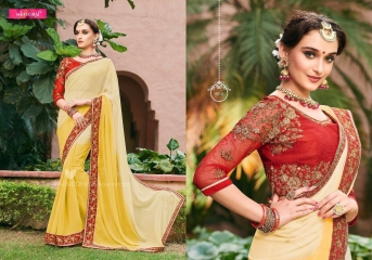 MINTORSI SUVARNA CATALOGUE DESIGNER & PARTY WEAR SAREES COLLECTION WHOLESALE DEALER BEST RATE BY GOSIYA EXPOTS SURAT (10)