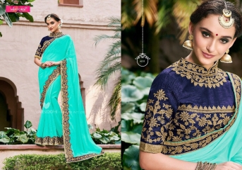 MINTORSI SUVARNA CATALOGUE DESIGNER & PARTY WEAR SAREES COLLECTION WHOLESALE DEALER BEST RATE BY GOSIYA EXPOTS SURAT (11)
