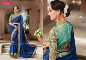 MINTORSI SUVARNA CATALOGUE DESIGNER & PARTY WEAR SAREES COLLECTION WHOLESALE DEALER BEST RATE BY GOSIYA EXPOTS SURAT (3)